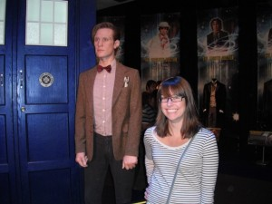 Me & a creepy wax statue of Matt Smith.
